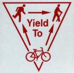 Bikes yeild to other users including runners and hikers.